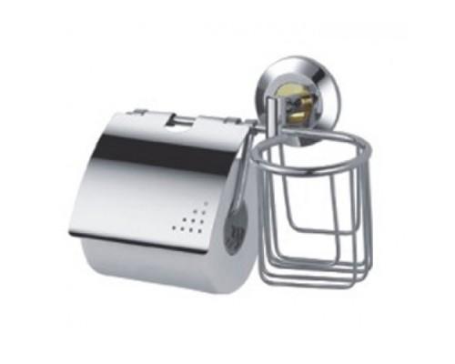 F1803-1 держатель для туалетной бумаги с дезодорантом хром/золото
