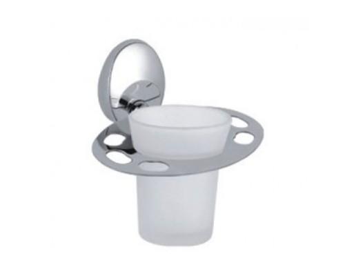 F1606-1 стакан стекло с держателем для зубн щеток