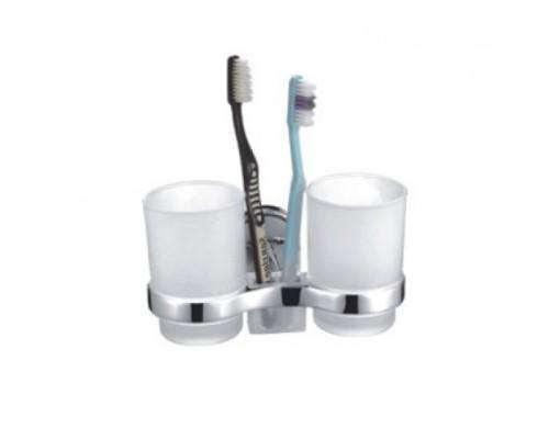 F1908 2 стакана стекло с держателем для зубн щеток