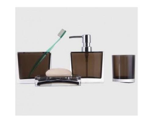 F302-2 набор аксессуаров для ванной комнаты коричневый