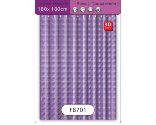F8701 Шторка для ванны   3D Peva/Полиэтилен 180 см*180 см