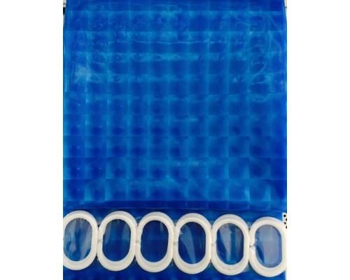 F8752 Шторка для ванны 3D голубой/Peva/полиэтилен 180см*200см