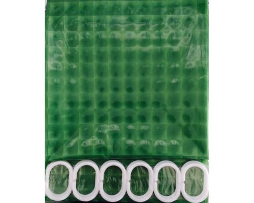 F8753 Шторка для ванны 3D светло-зеленый/Peva/полиэтилен 180см*200см
