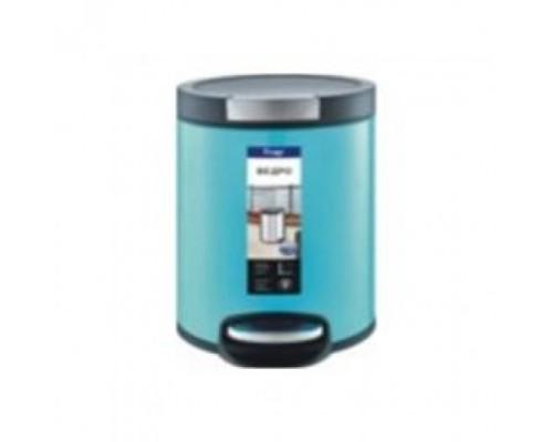 F716 голубой  ведро для мусора 5 л