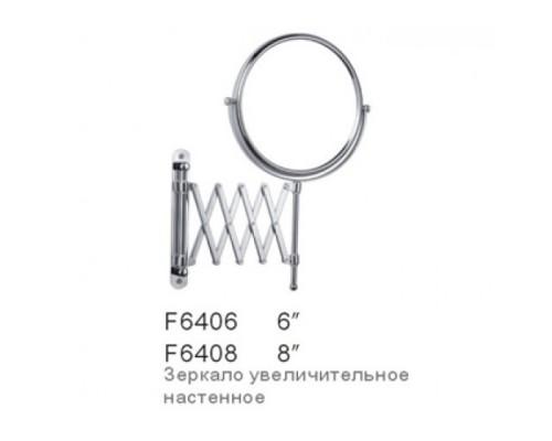 F6408  Косметическое зеркало с увеличением  настен